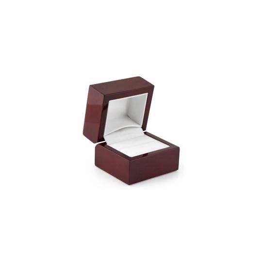 Marco B Garnet and CZ Halo Engagement Ring in 14K White Gold Jaunuary Image 1