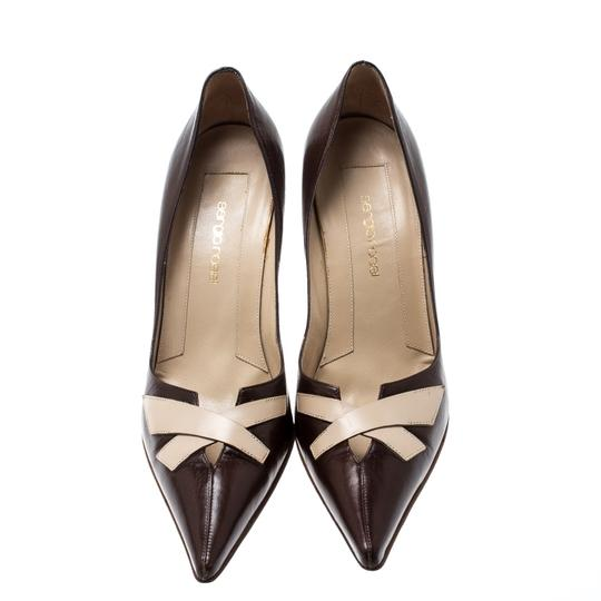 Sergio Rossi Leather Pointed Brown Pumps Image 1