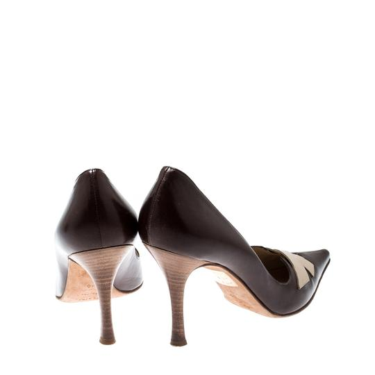 Sergio Rossi Leather Pointed Brown Pumps Image 2
