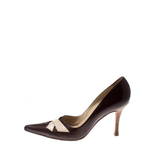 Sergio Rossi Leather Pointed Brown Pumps Image 3
