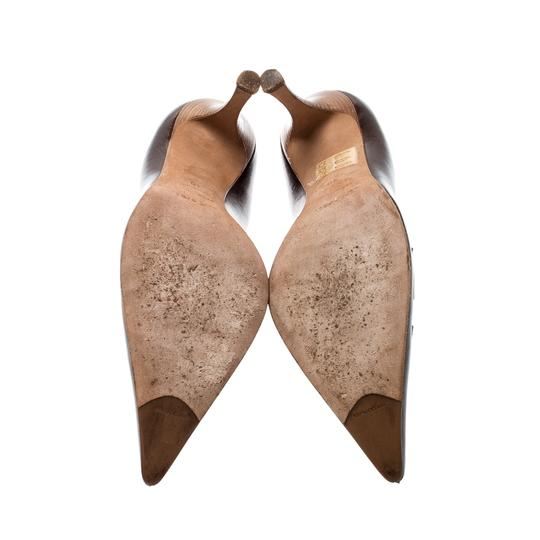 Sergio Rossi Leather Pointed Brown Pumps Image 5