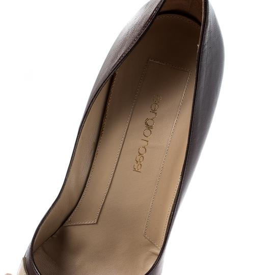 Sergio Rossi Leather Pointed Brown Pumps Image 6