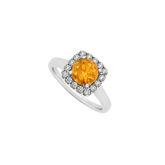 Preload https://img-static.tradesy.com/item/25897794/yellow-citrine-and-cz-halo-engagement-in-14k-white-gold-december-ring-0-0-540-540.jpg