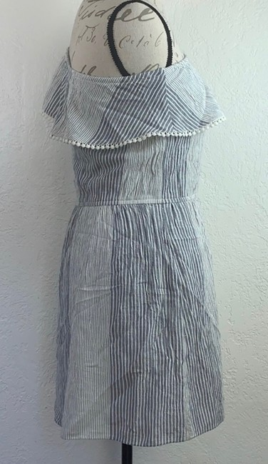 American Eagle Outfitters short dress Denim Blue, White Strapless Off-shoulder Ruffle Mini on Tradesy Image 1