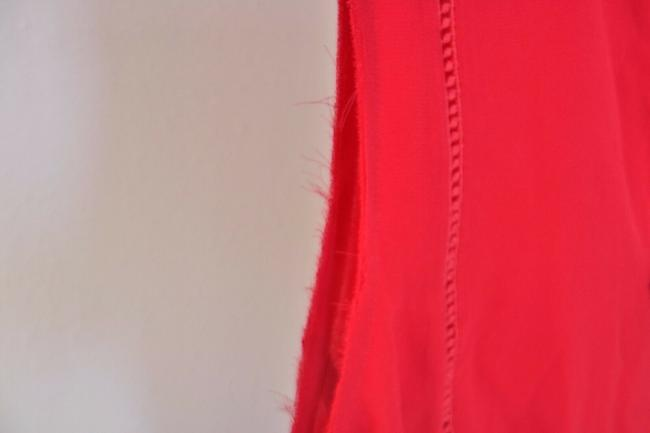 Tory Burch Silk Sleeveless Ruffle Date Night Hollywood Top Spark Red Image 4