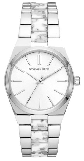 Preload https://img-static.tradesy.com/item/25897811/michael-kors-silver-tone-new-women-s-channing-three-hand-stainless-steel-mk6649-watch-0-1-540-540.jpg