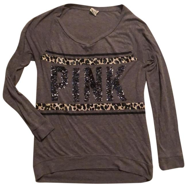 Preload https://img-static.tradesy.com/item/25897820/pink-gray-sequined-front-soft-pullover-tunic-size-8-m-0-1-650-650.jpg