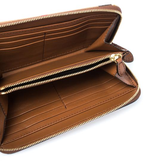 Burberry Brown House Check Canvas and Leather Elmore Zip Round Wallet Image 3