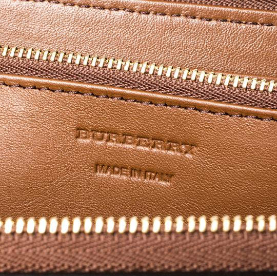 Burberry Brown House Check Canvas and Leather Elmore Zip Round Wallet Image 4