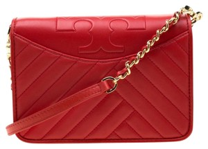 Tory Burch Leather Fabric Shoulder Bag