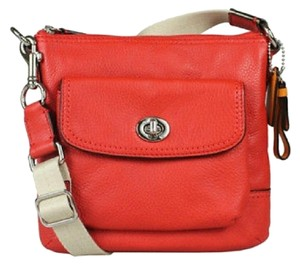Coach Leather Genuine Leather Shoulder Cross Body Bag