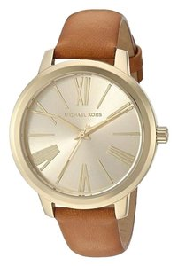 Michael Kors Michael Kors Women's Gold-Tone and Brown Leather Watch MK2521
