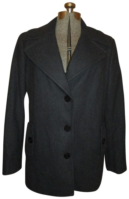 Item - Charcoal Gray Wool Blend Coat Size 12 (L)