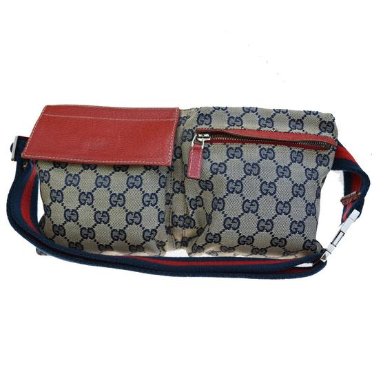 Preload https://img-static.tradesy.com/item/25898475/gucci-navy-blue-bum-bag-gg-pattern-sherry-canvas-leather-belt-0-0-540-540.jpg
