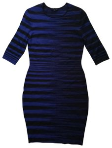 Ohne Titel short dress Blue Black on Tradesy