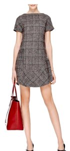 Carven short dress Gray, Maroon on Tradesy