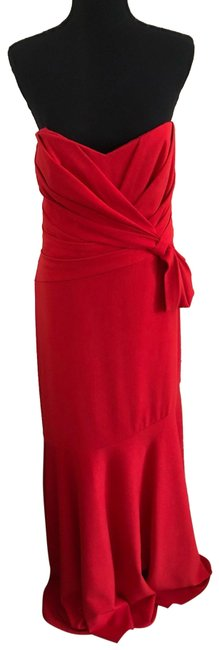 Badgley Mischka Red Strapless Gown Long Formal Dress Size 16 (XL, Plus 0x) Badgley Mischka Red Strapless Gown Long Formal Dress Size 16 (XL, Plus 0x) Image 1