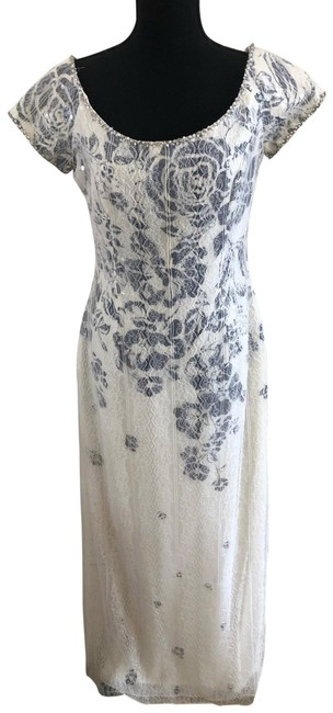 Item - Ivory Lace and Sequin Gown Long Formal Dress Size 6 (S)
