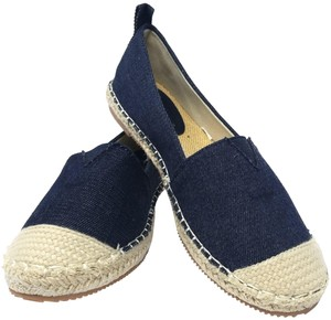 Forever Young Loafers Espadrille Driveable Ballet Dark Blue Flats