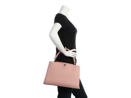 Louis Vuitton Lv.q0710.11 Silver Hardware Lv Mm Satchel in Pink Image 10