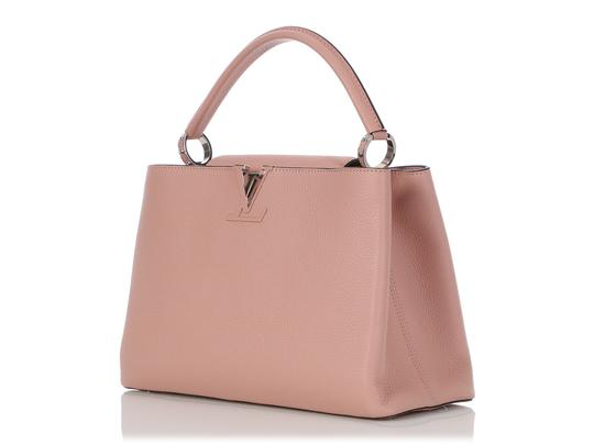 Louis Vuitton Lv.q0710.11 Silver Hardware Lv Mm Satchel in Pink Image 2