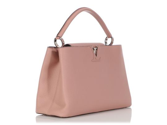 Louis Vuitton Lv.q0710.11 Silver Hardware Lv Mm Satchel in Pink Image 4