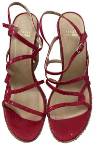 Stuart Weitzman red Wedges