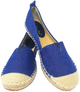 Forever Young Loafers Espadrille Driveable Ballet Blue Flats