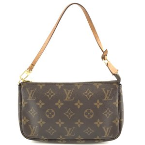 Louis Vuitton Monogram Pochette Sling Brown Clutch