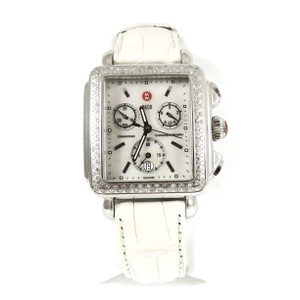 Michele Michele Stainless Steel .66tcw Diamond Deco Chronograph Watch