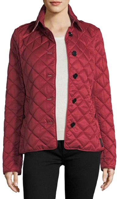 Item - Red London England Quilted Coat Medium Jacket Size 8 (M)