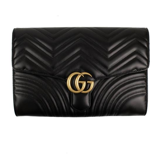 Preload https://img-static.tradesy.com/item/25899712/gucci-gg-marmont-quilted-black-matelasse-chevron-leather-clutch-0-1-540-540.jpg