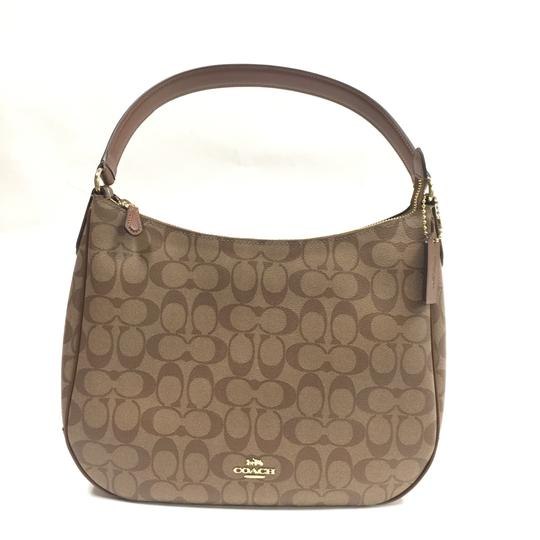 Signature Zip Handbag Khaki