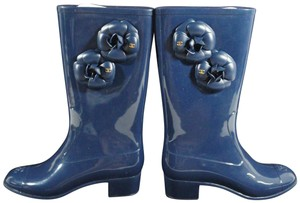 Chanel Classic Navy Boots