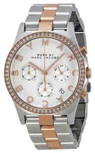 Marc by Marc Jacobs Marc By Marc Jacobs Rose Gold & Silver Crystal Stainless Watch MBM3106