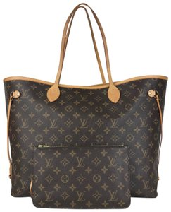 Louis Vuitton Monogram Canvas Neverfull Gm Tote in Brown