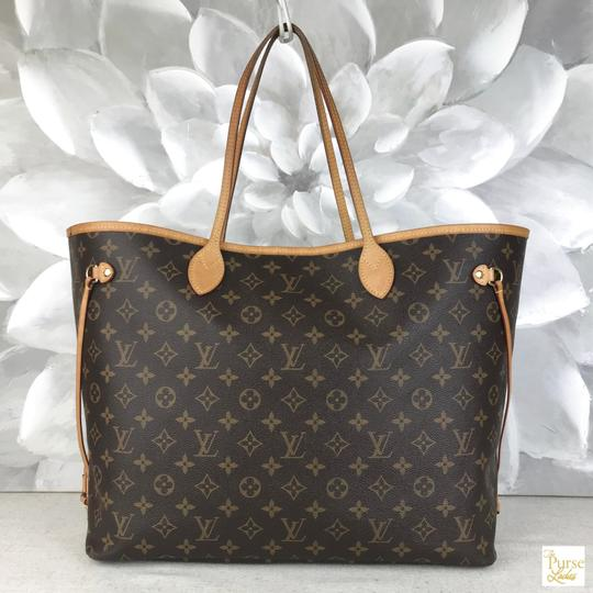 Louis Vuitton Monogram Canvas Neverfull Gm Tote in Brown Image 1