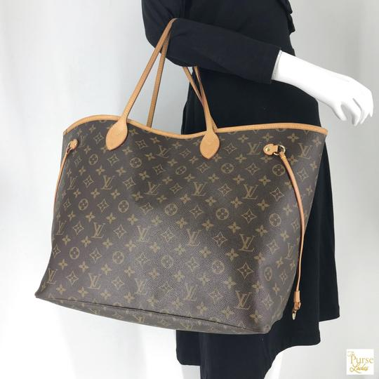 Louis Vuitton Monogram Canvas Neverfull Gm Tote in Brown Image 11
