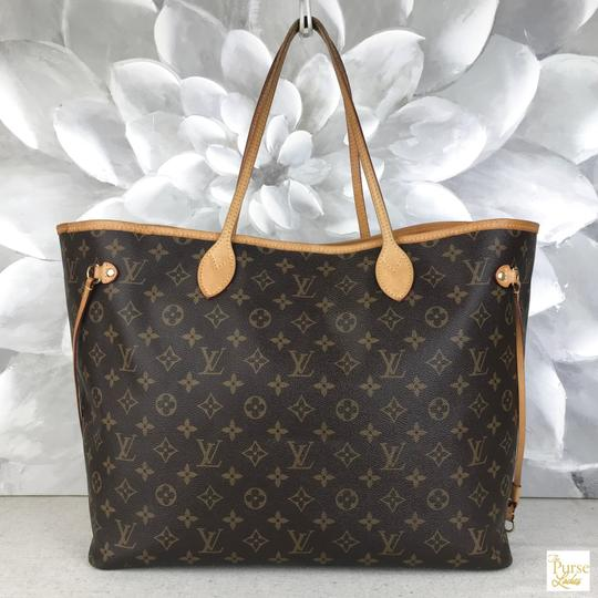 Louis Vuitton Monogram Canvas Neverfull Gm Tote in Brown Image 3