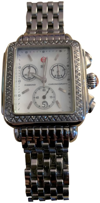 Item - Stainless Steel XL Women's Deco Diamond Watch