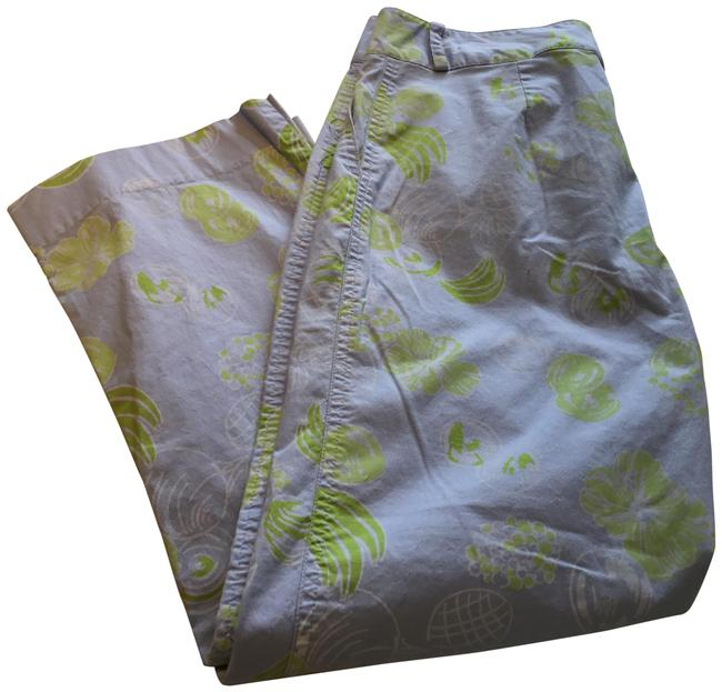 Lilly Pulitzer Light Blue/ Green Summer Pants Size 4 (S, 27) Lilly Pulitzer Light Blue/ Green Summer Pants Size 4 (S, 27) Image 1
