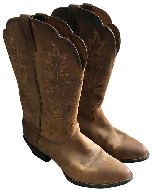 Item - Brown with White Stitching 10001021(15725) Boots/Booties Size US 8.5 Wide (C, D)