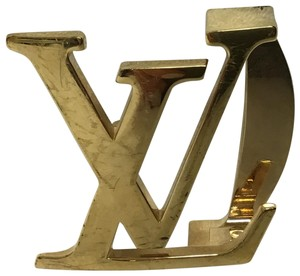 Louis Vuitton Gold LV initial belt buckle