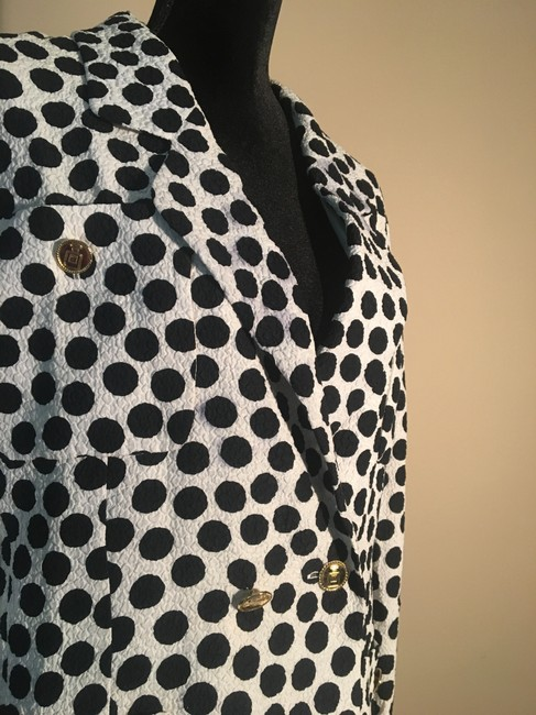Chanel Chanel White with Black Polka Dot Skirt Suit Image 5