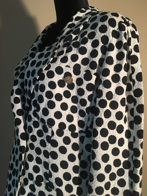 Chanel Chanel White with Black Polka Dot Skirt Suit Image 6