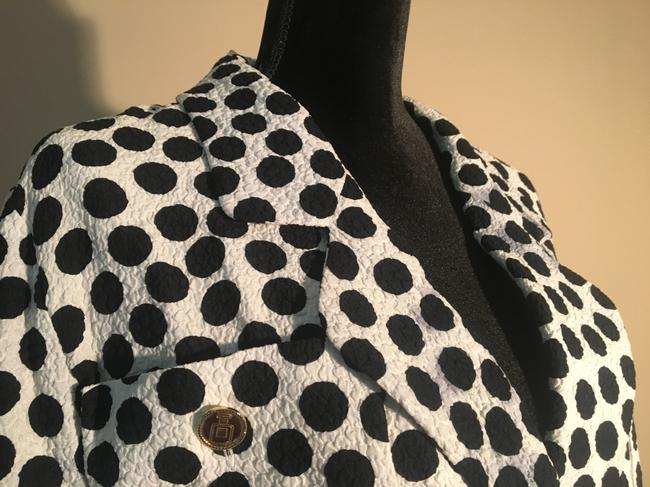 Chanel Chanel White with Black Polka Dot Skirt Suit Image 7