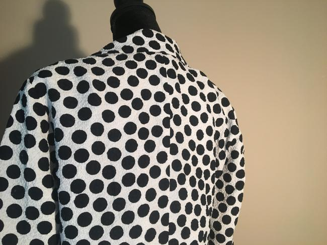 Chanel Chanel White with Black Polka Dot Skirt Suit Image 8