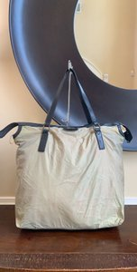 Burberry Over-sized Cow Leather Nylon Tote in Khaki (Multi-color)