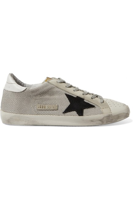 Item - Super Star Mesh and Distressed Leather Sneakers Size EU 37 (Approx. US 7) Regular (M, B)
