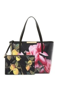 Ted Baker Tote in black pink yellow vivid